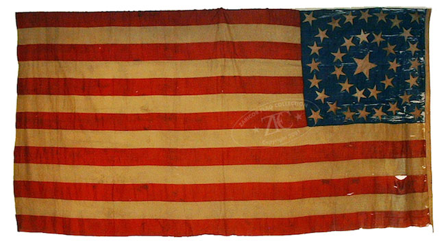 ZFC - National Treasures - Union Civil War Flags 1861 to 1865