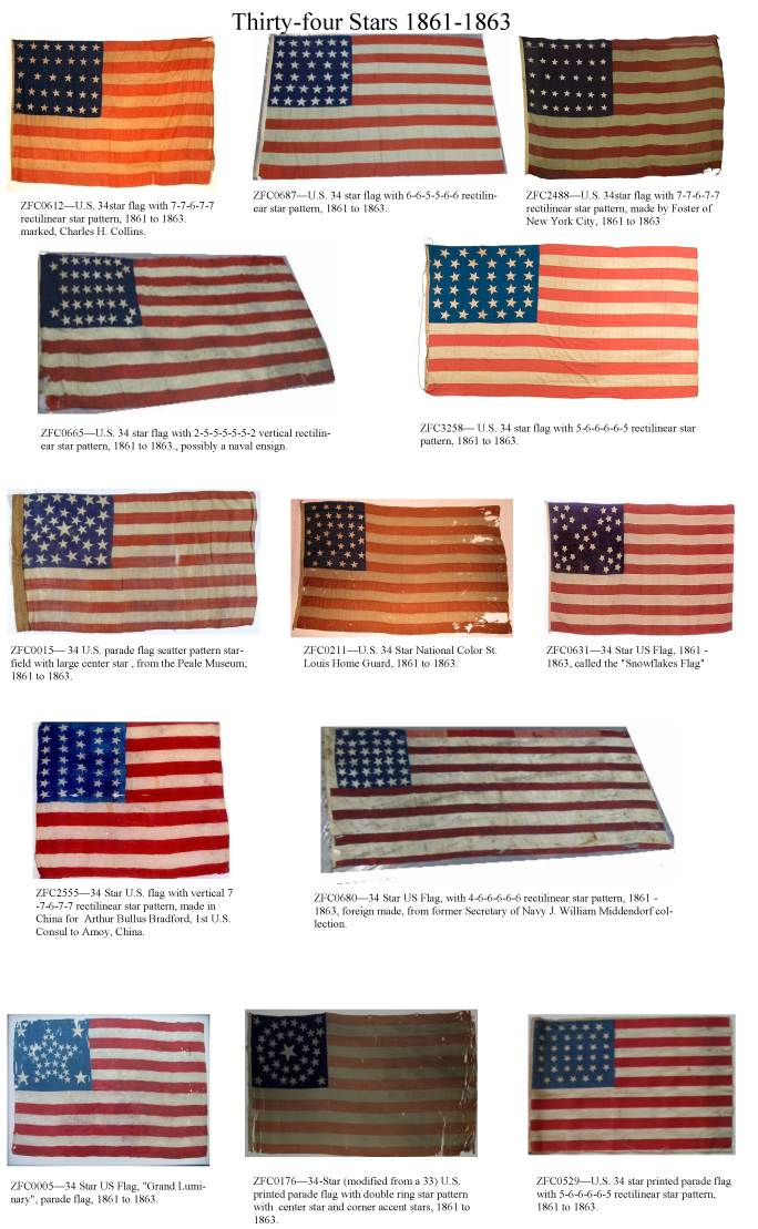 ZFC - National Treasures - Union Civil War Flags 1861 to 1865  ZFC - National ...